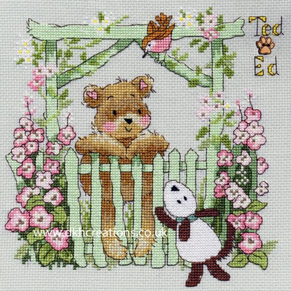 Ted & Ed A Little Bird Margaret Sherry Cross Stitch Kit